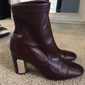 Zara leather sock boots